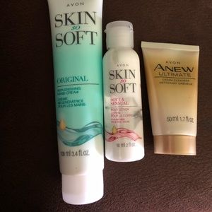 Hand Cream, face cleanser, and lotion
